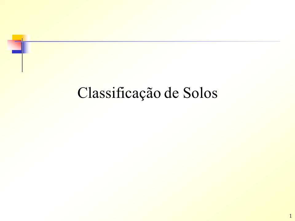 1 Classificação de Solos