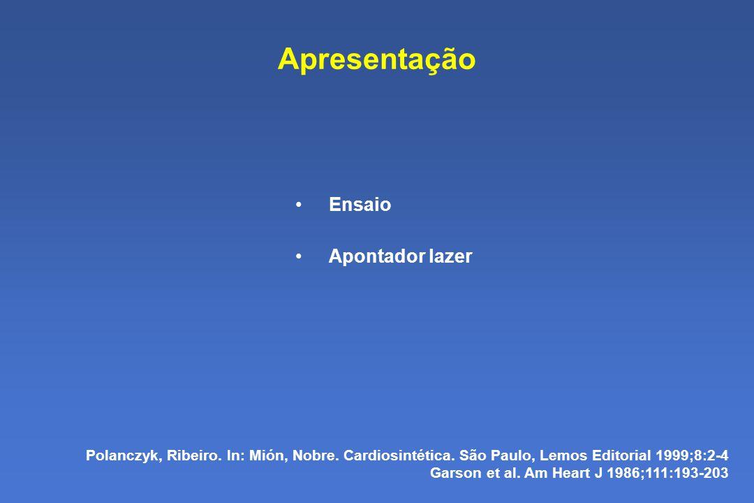 Apresentação Ensaio Apontador lazer Polanczyk, Ribeiro.