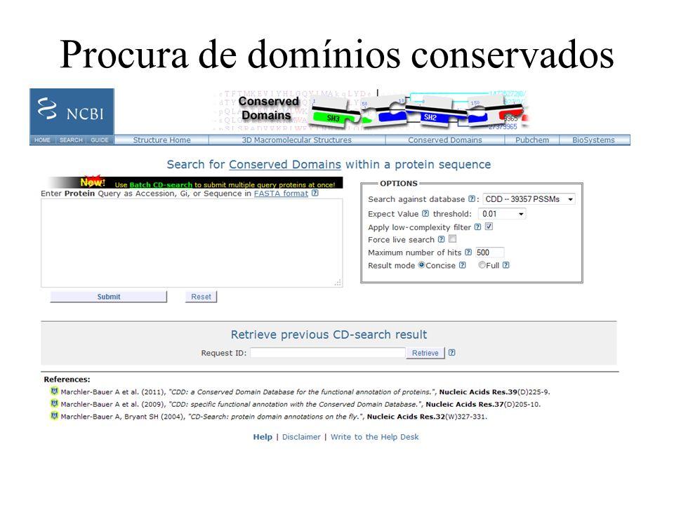 Procura de domínios conservados