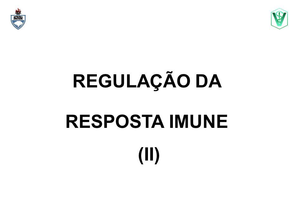 REGULAÇÃO DA RESPOSTA IMUNE (II)