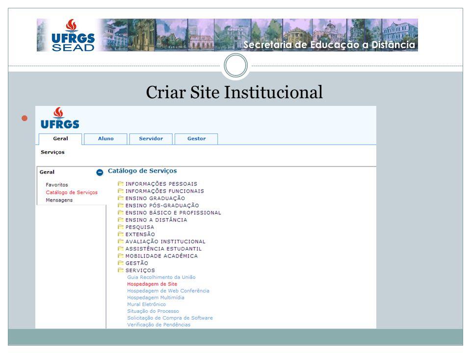 Criar Site Institucional