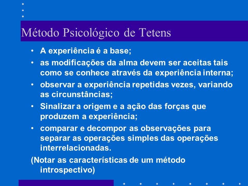 Psicologia trata das manifestações ou fenômenos exteriores do eu, limita-se ao observável em termos de tempo e de espaço e dentro das coordenadas das categorias.