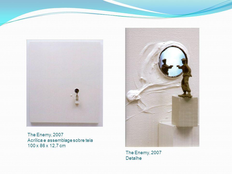 The Enemy, 2007 Acrílica e assemblage sobre tela 100 x 86 x 12,7 cm The Enemy, 2007 Detalhe