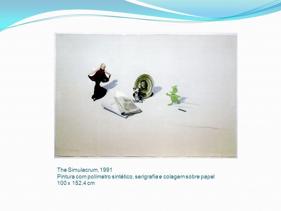 The Simulacrum, 1991 Pintura com polímetro sintético, serigrafia e colagem sobre papel 100 x 152,4 cm