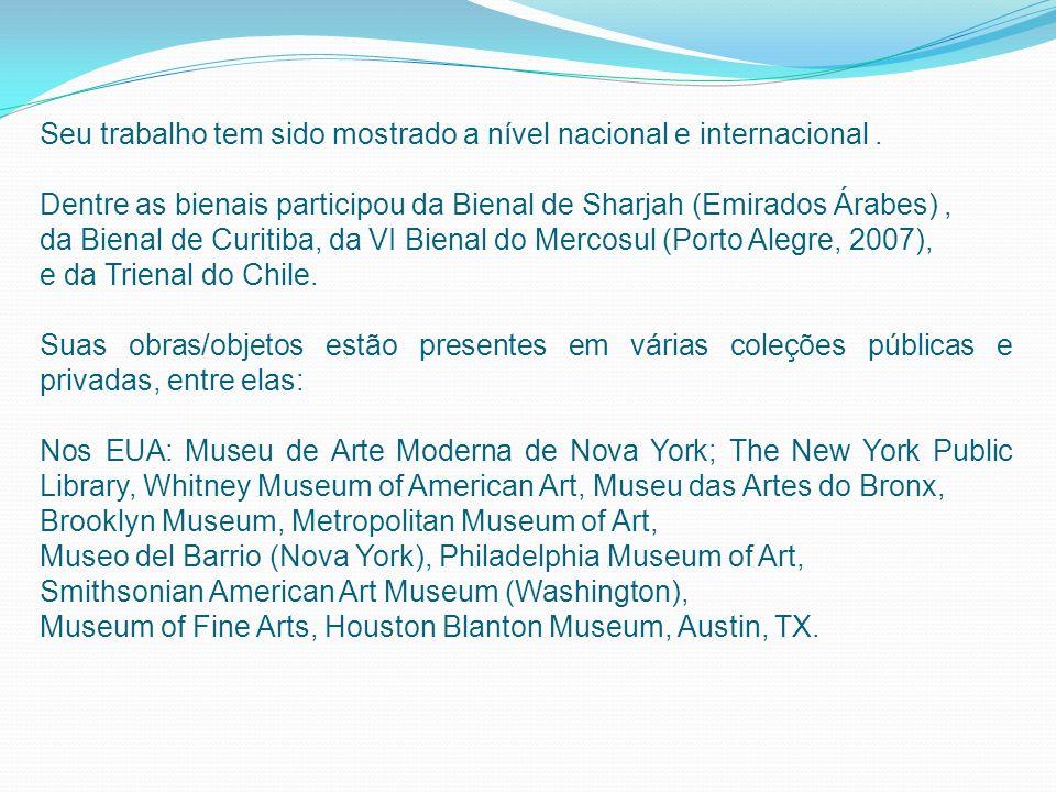 Coleção Tate Modern, Londres, Reino Unido; Museo Nacional Centro de Arte Reina Sofía, Madrid, Espanha; La Biblioteque Nationale, Paris, França; Daros Colecção Zurique, Suíça.