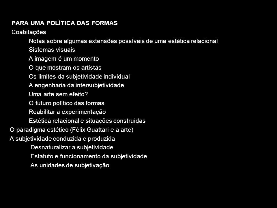 OS ESPAÇOS-TEMPOS DE TROCA (pp.57-63) As obras e as trocas (pp.