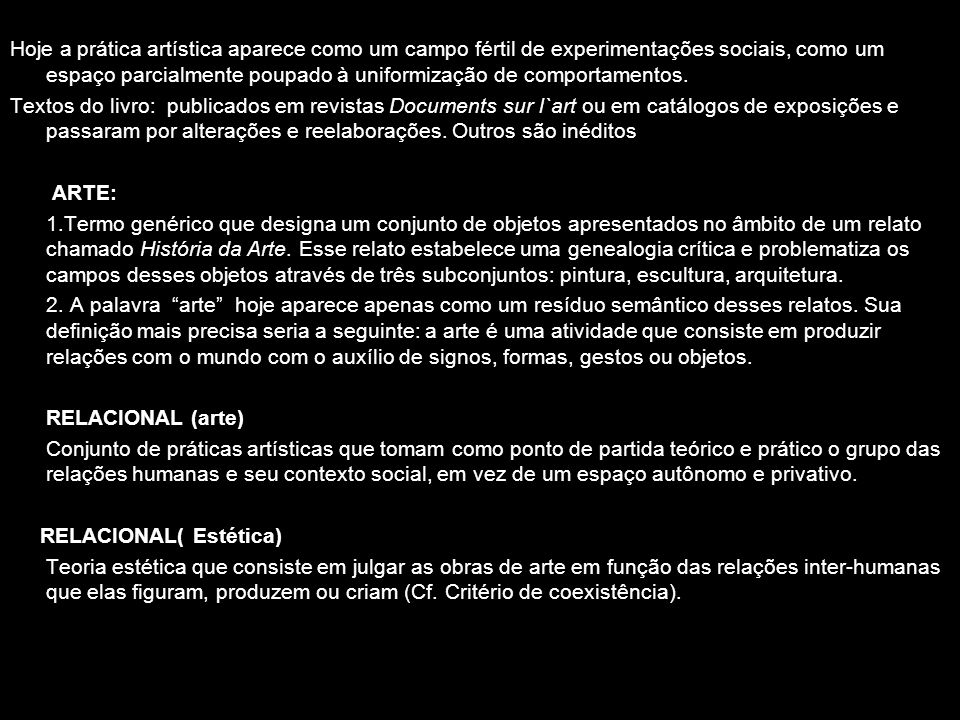 A FORMA RELACIONAL (P.