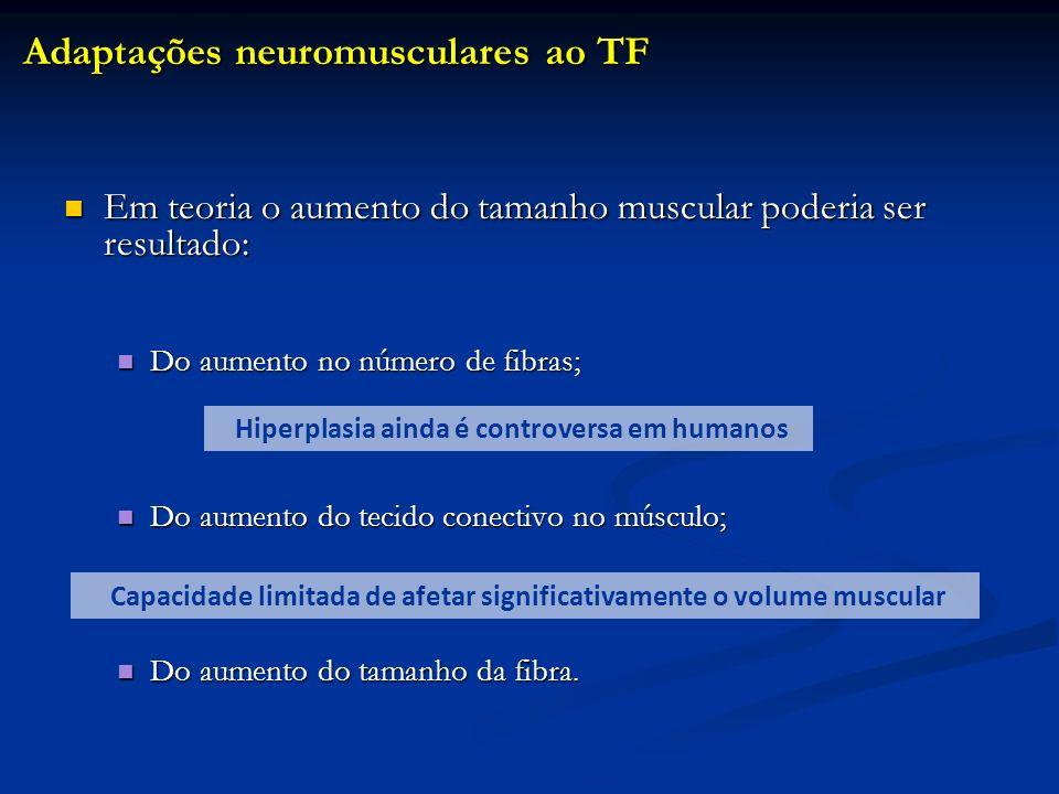 Em teoria o aumento do tamanho muscular poderia ser resultado: Em teoria o aumento do tamanho muscular poderia ser resultado: Do aumento no número de