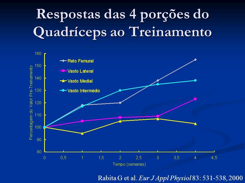 Respostas das 4 porções do Quadríceps ao Treinamento Rabita G et al. Eur J Appl Physiol 83: 531-538, 2000