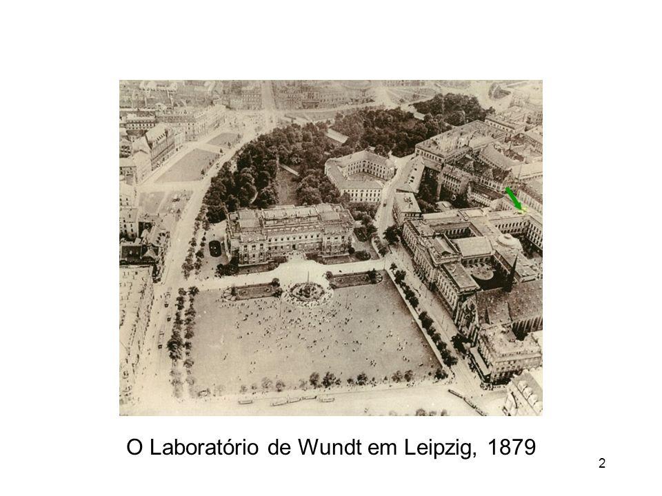 2 O Laboratório de Wundt em Leipzig, 1879