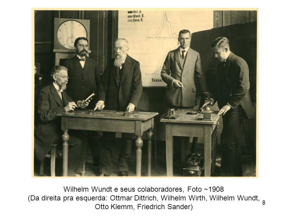 8 Wilhelm Wundt e seus colaboradores, Foto ~1908 (Da direita pra esquerda: Ottmar Dittrich, Wilhelm Wirth, Wilhelm Wundt, Otto Klemm, Friedrich Sander