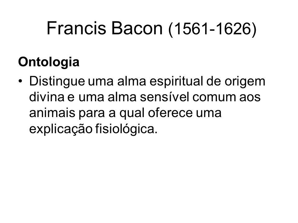 Francis Bacon (1561-1626) Epistemologia