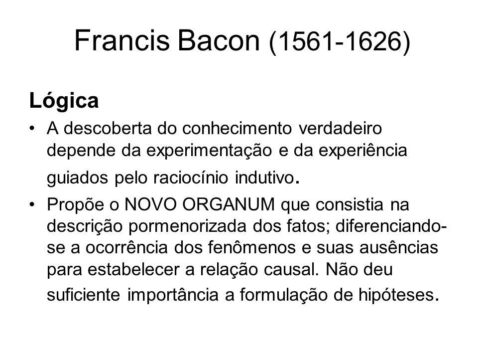Francis Bacon (1561-1626) Ética Teoria dos Ídolos.