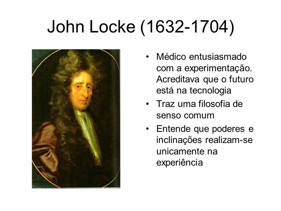 Locke (1632-1704) Ontologia Critica princípios inatos ou noções comuns.