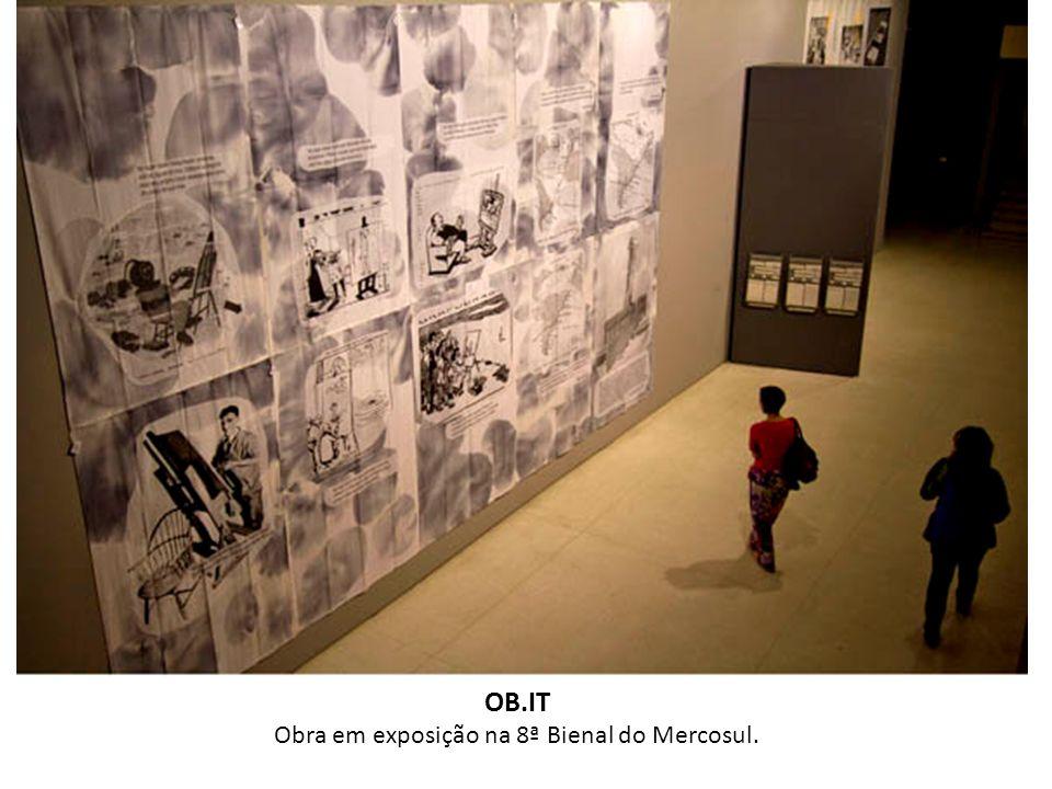 OB.IT Obra em exposição na 8ª Bienal do Mercosul.