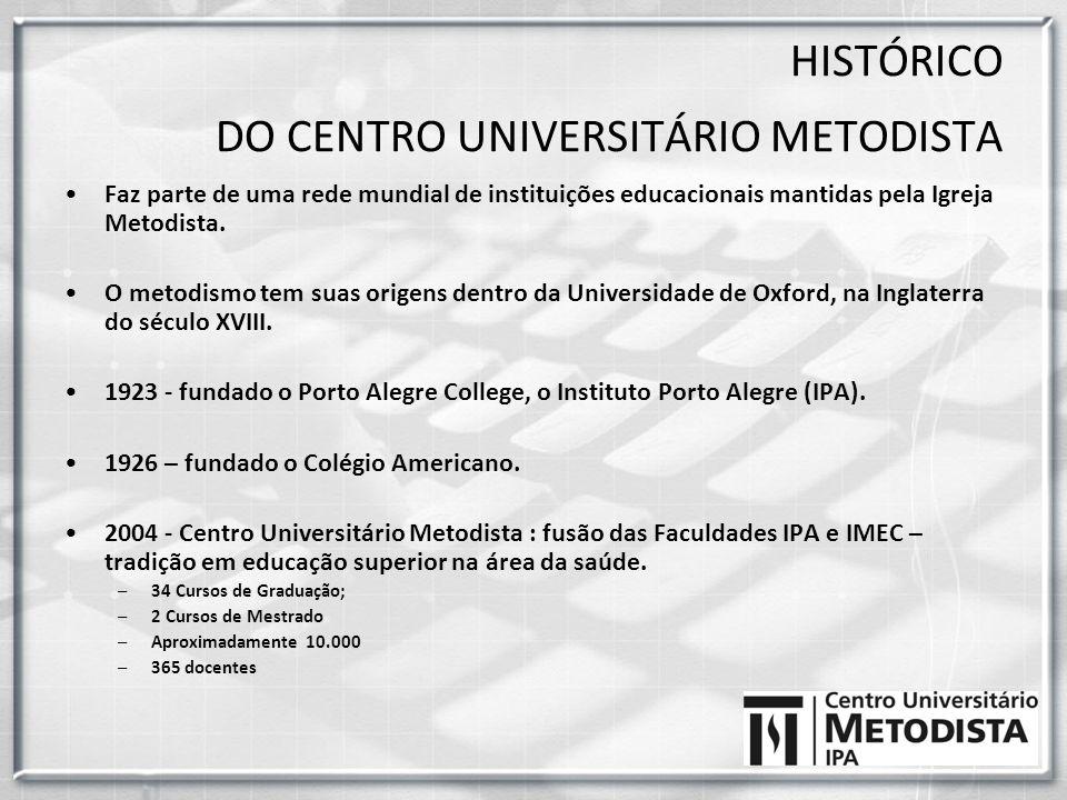 Faz parte de uma rede mundial de instituições educacionais mantidas pela Igreja Metodista. O metodismo tem suas origens dentro da Universidade de Oxfo
