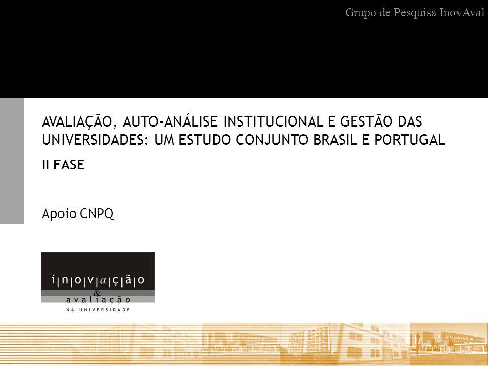 Projeção obtida em favor da pesquisa brasileira Aprovação da continuidade do projeto pelo lado português com financiamento Sapiens FCT (Fundação para Ciência e Tecnologia) Portugal sob o título Evaluation, institutional self-analisys and higher education management.