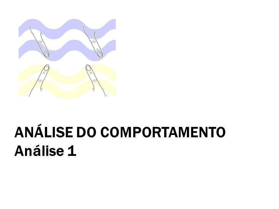 ANÁLISE DO COMPORTAMENTO Análise 1