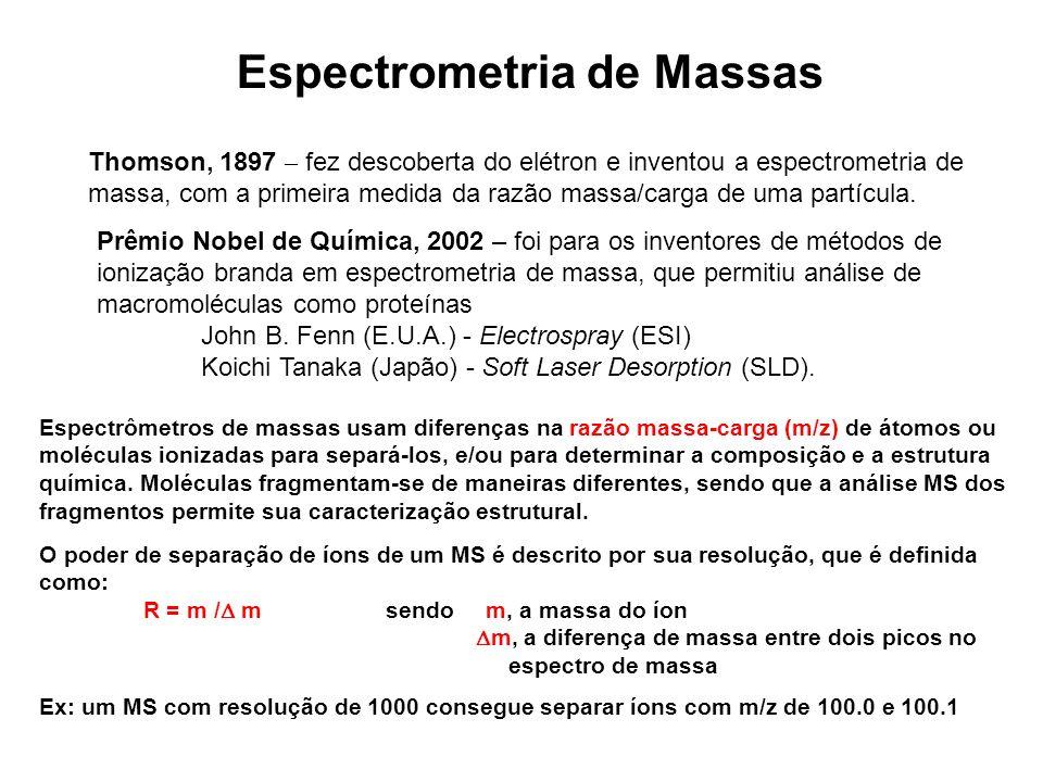 Thomson, 1897 – fez descoberta do elétron e inventou a espectrometria de massa, com a primeira medida da razão massa/carga de uma partícula. Prêmio No