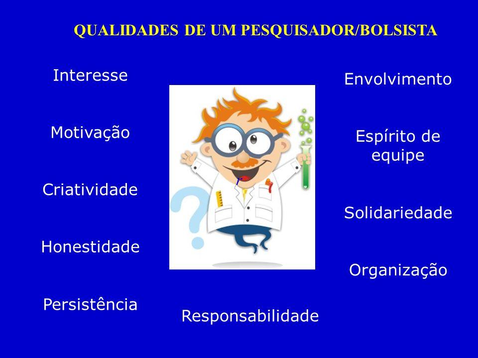 r Interesse Motivação Criatividade Honestidade Persistência Envolvimento Espírito de equipe Solidariedade Organização Responsabilidade QUALIDADES DE U
