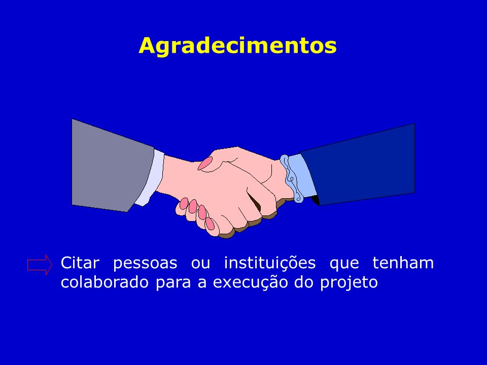 Citar pessoas ou instituições que tenham colaborado para a execução do projeto Agradecimentos