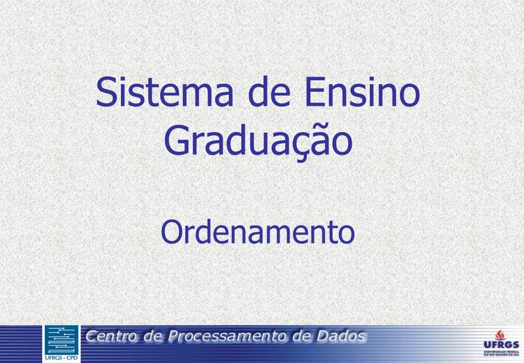Sistema de Ensino Graduação Ordenamento