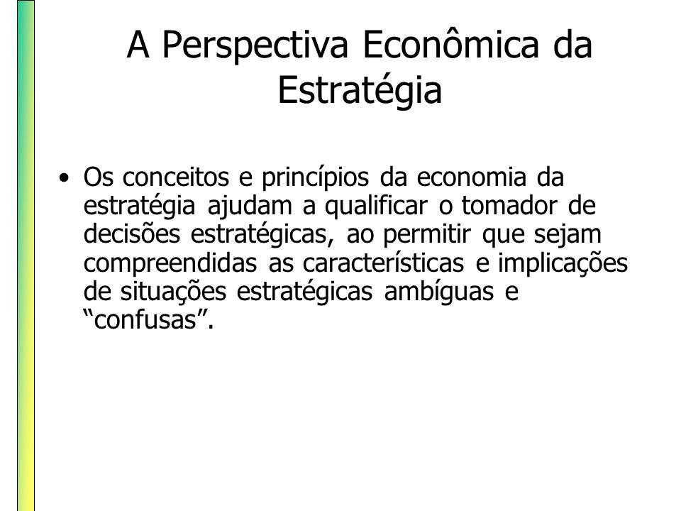 Os conceitos e princípios da economia da estratégia ajudam a qualificar o tomador de decisões estratégicas, ao permitir que sejam compreendidas as car