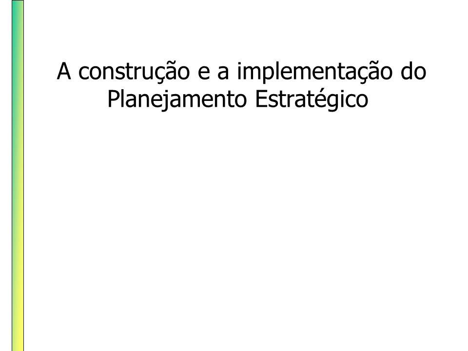 A construção e a implementação do Planejamento Estratégico