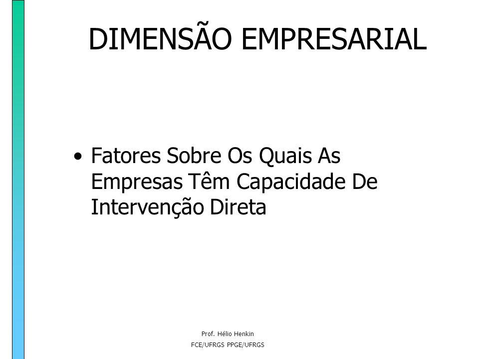 Prof. Hélio Henkin FCE/UFRGS PPGE/UFRGS DIMENSÃO ESTRUTURAL Regime De Incentivos E Regulação Da Concorrência política comercial política de defesa da