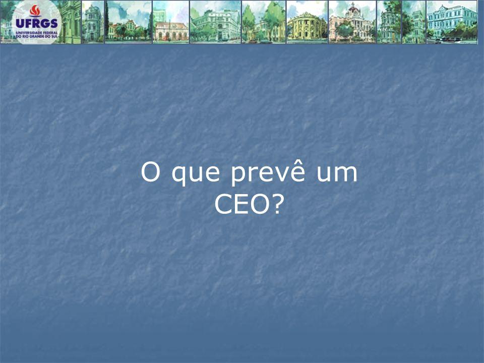 O que prevê um CEO?