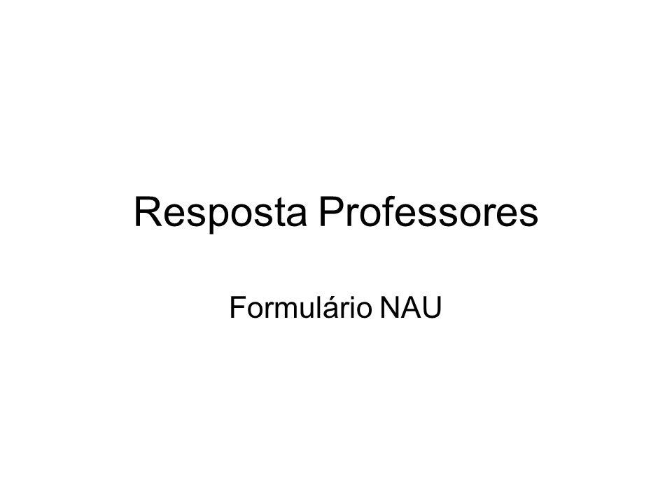 Resposta Professores Formulário NAU