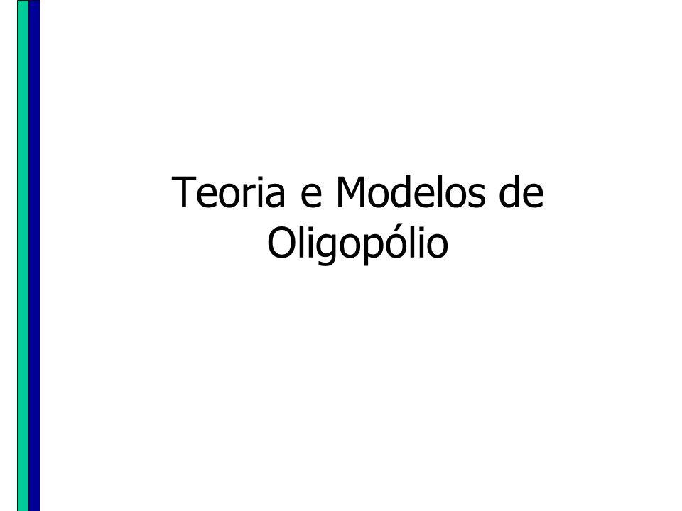 Teoria e Modelos de Oligopólio