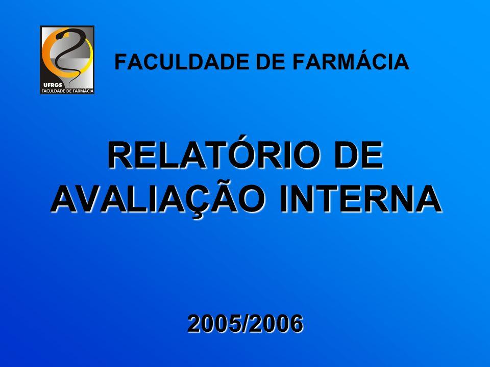 RELATÓRIO DE AVALIAÇÃO INTERNA 2005/2006 FACULDADE DE FARMÁCIA