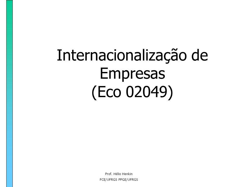 Prof.Hélio Henkin FCE/UFRGS PPGE/UFRGS Curso de Relações Internacionais Prof.