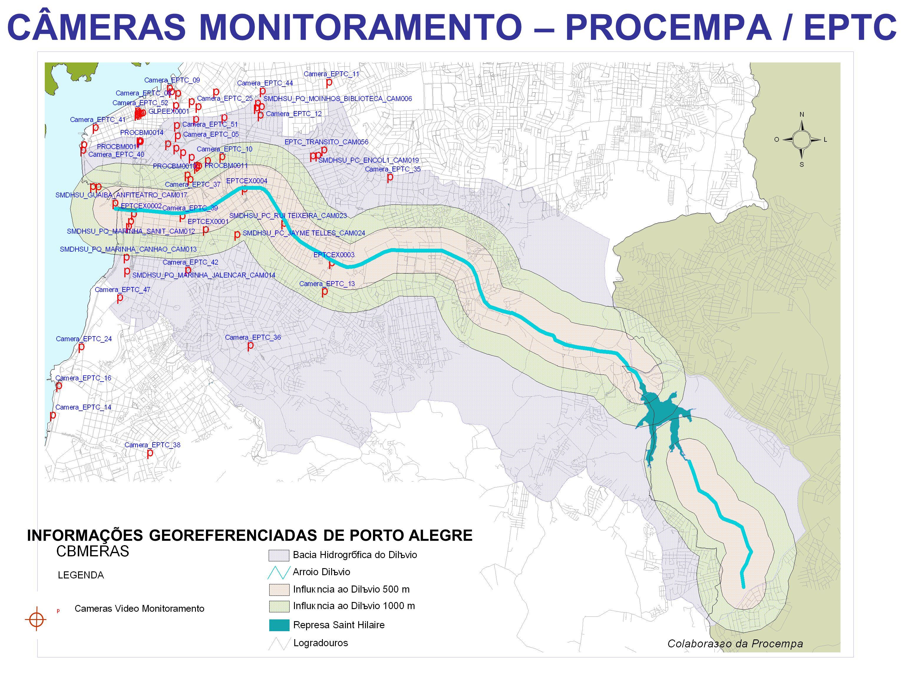 INFORMAÇÕES GEOREFERENCIADAS DE PORTO ALEGRE CÂMERAS MONITORAMENTO – PROCEMPA / EPTC