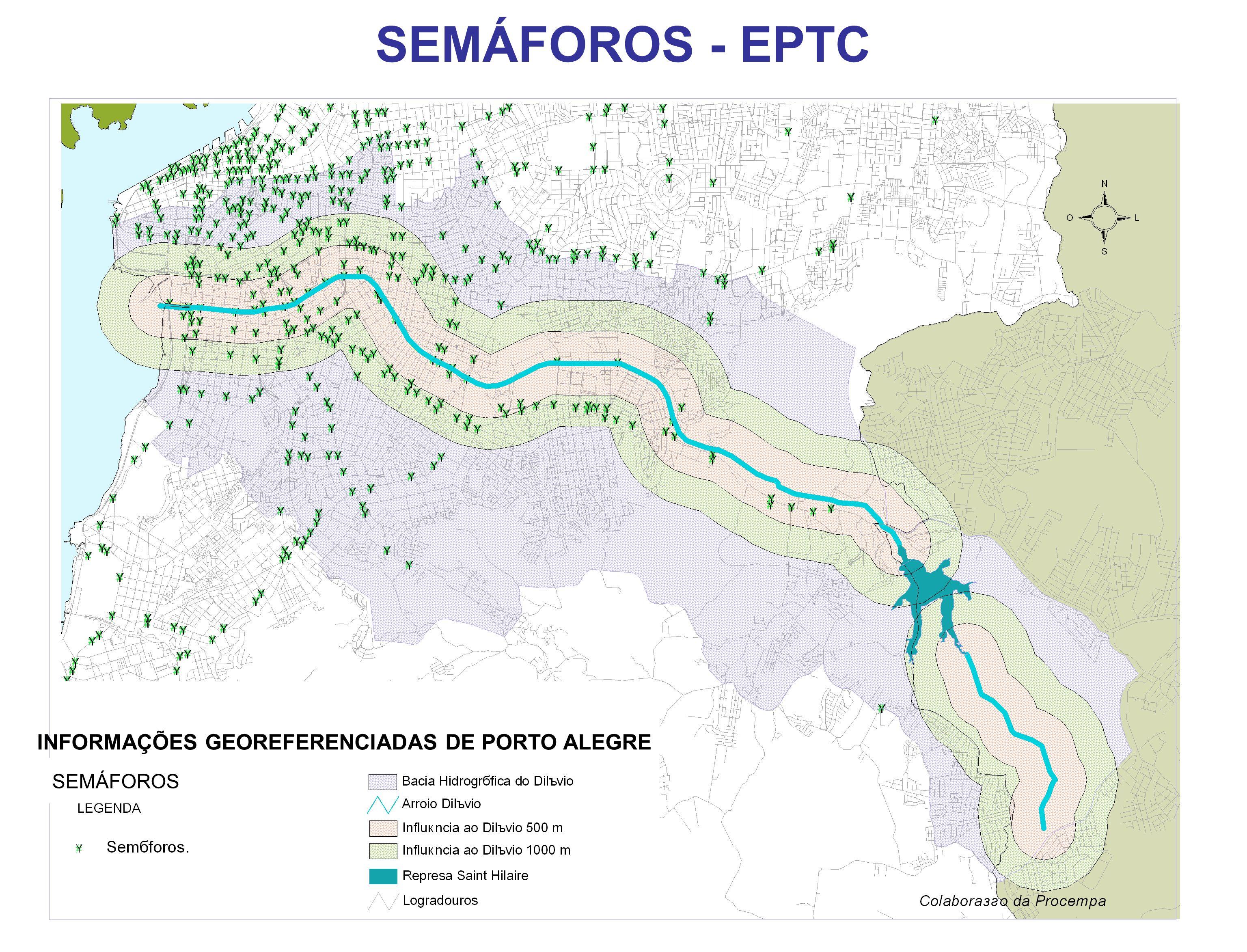 SEMÁFOROS SEMÁFOROS - EPTC INFORMAÇÕES GEOREFERENCIADAS DE PORTO ALEGRE