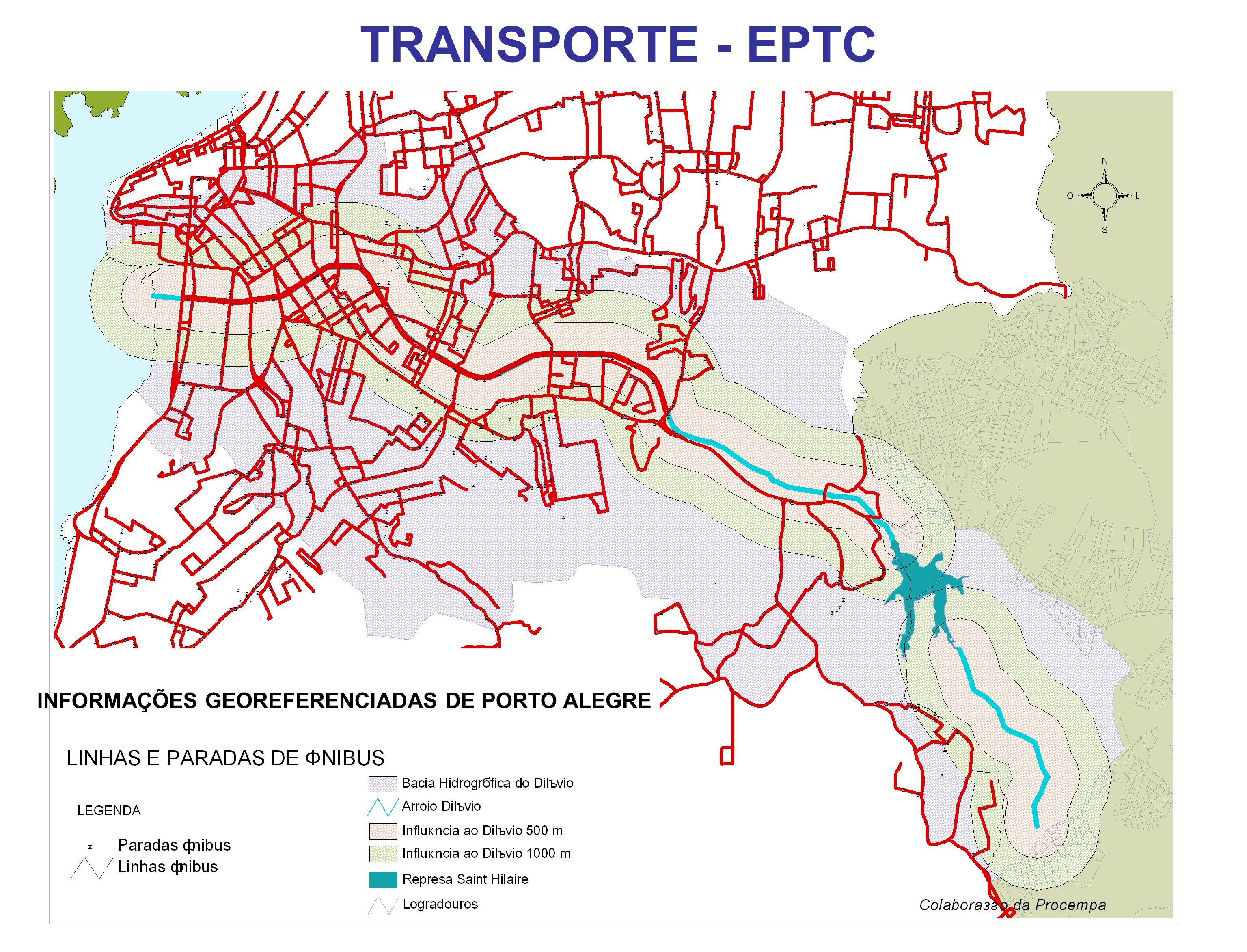 TRANSPORTE - EPTC INFORMAÇÕES GEOREFERENCIADAS DE PORTO ALEGRE