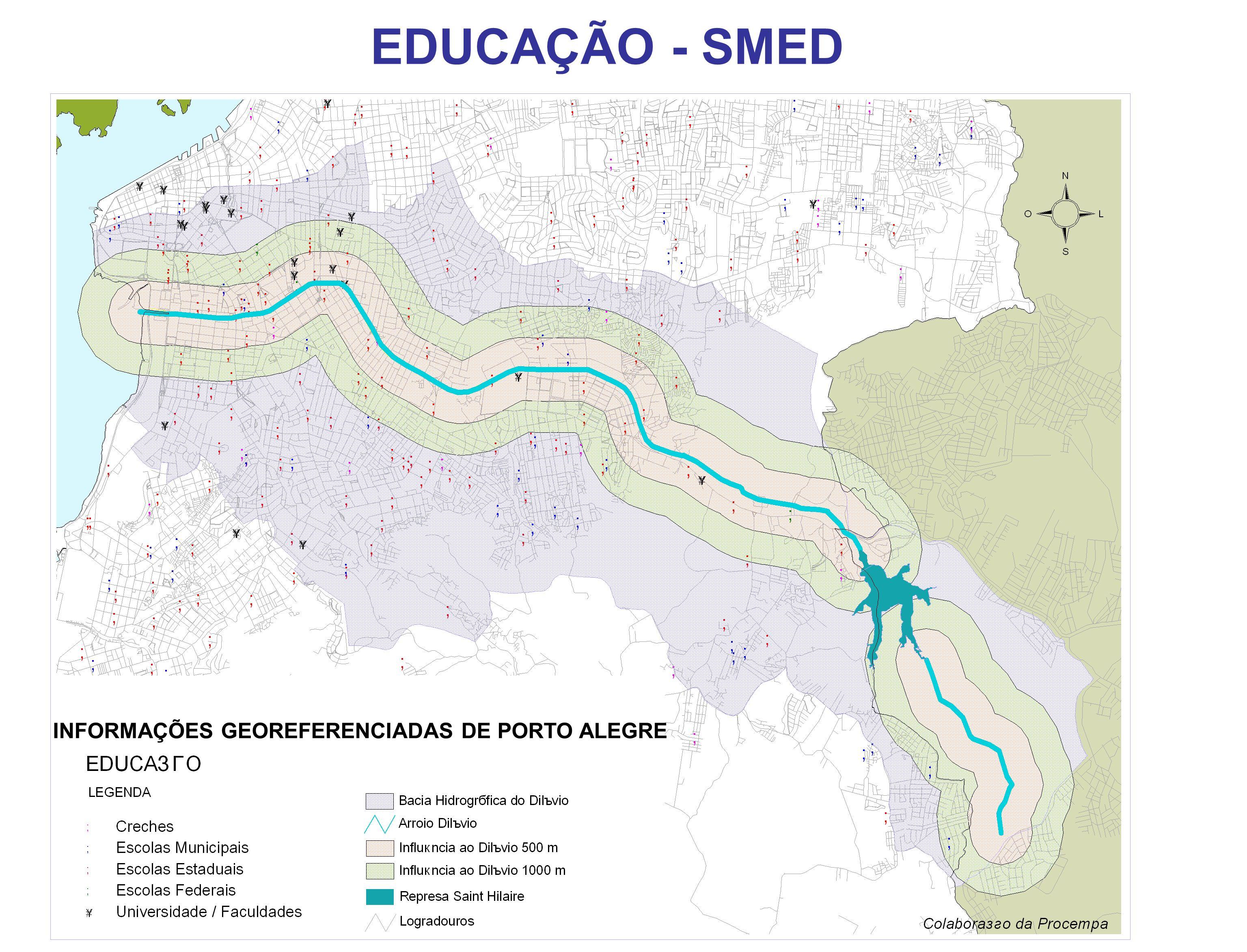 INFORMAÇÕES GEOREFERENCIADAS DE PORTO ALEGRE EDUCAÇÃO - SMED