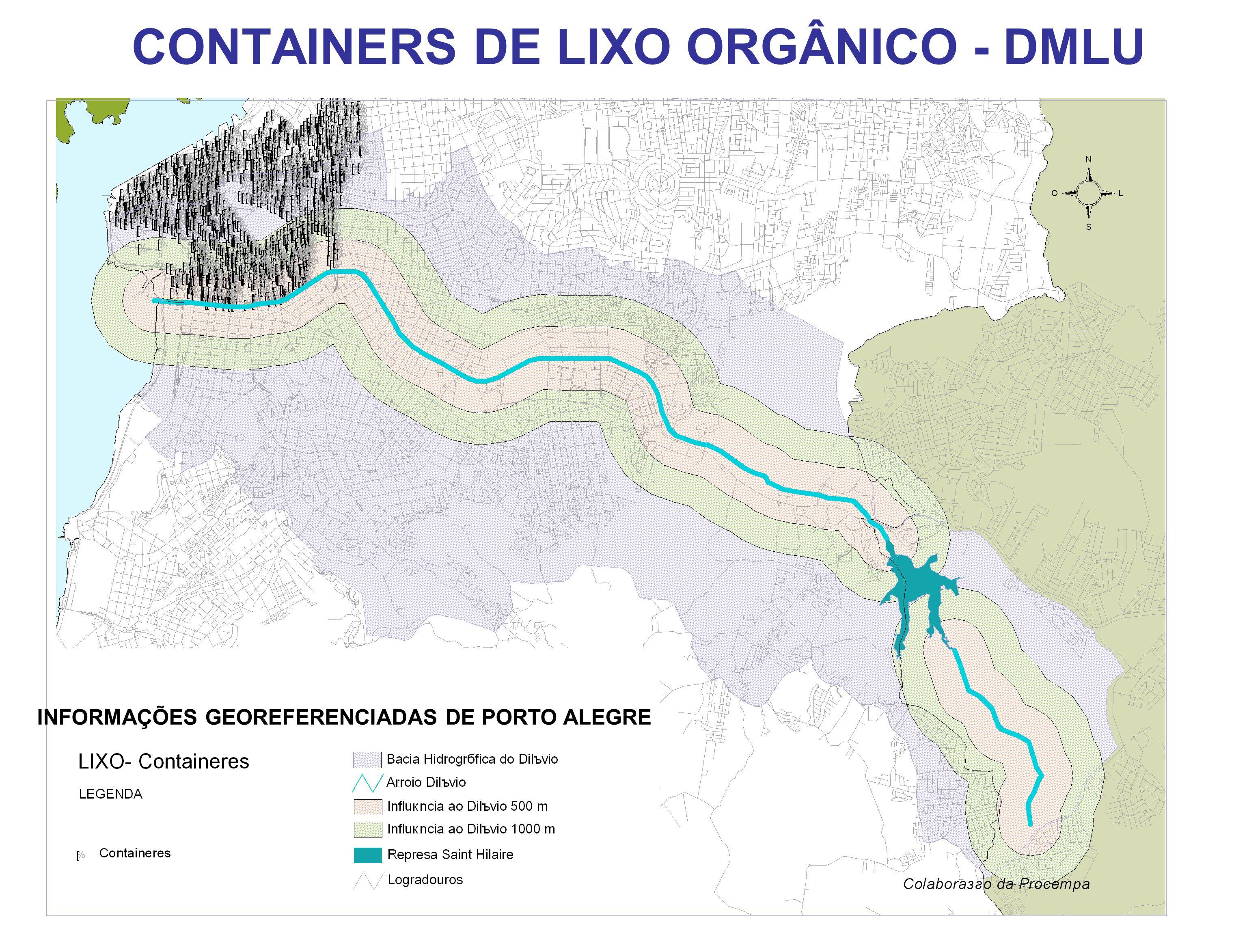CONTAINERS DE LIXO ORGÂNICO - DMLU INFORMAÇÕES GEOREFERENCIADAS DE PORTO ALEGRE