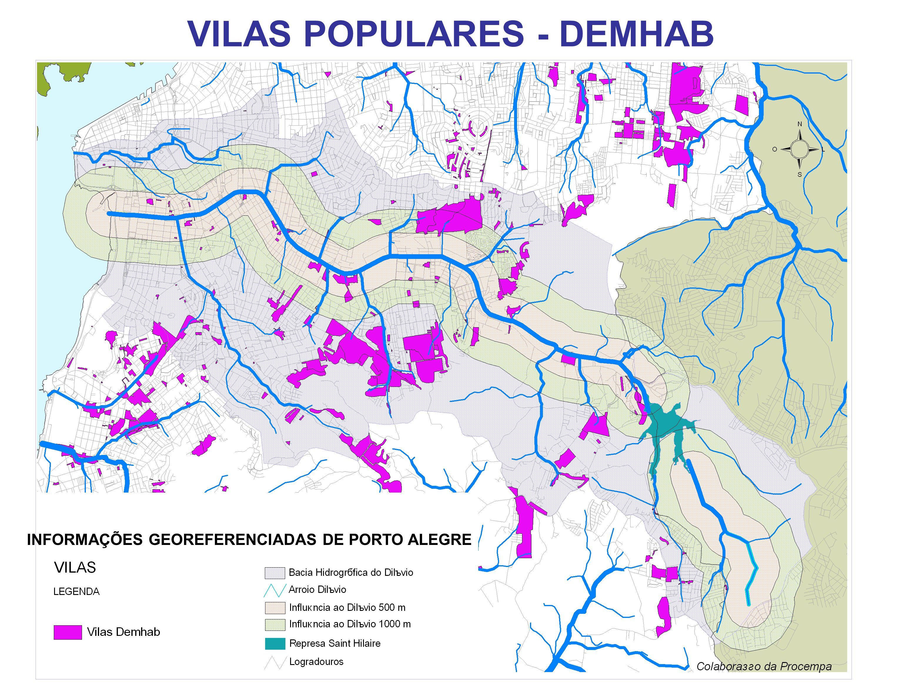 INFORMAÇÕES GEOREFERENCIADAS DE PORTO ALEGRE VILAS POPULARES - DEMHAB