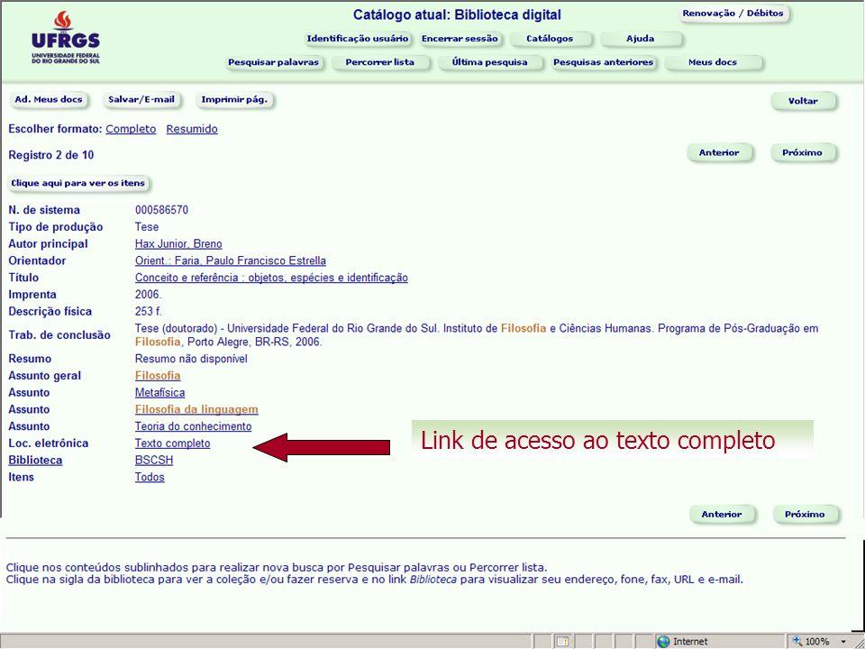 Link de acesso ao texto completo