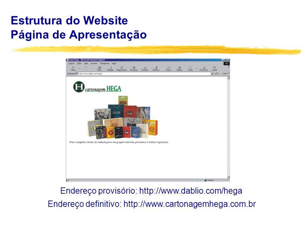 Estrutura do Website Embalagens Pronta Entrega