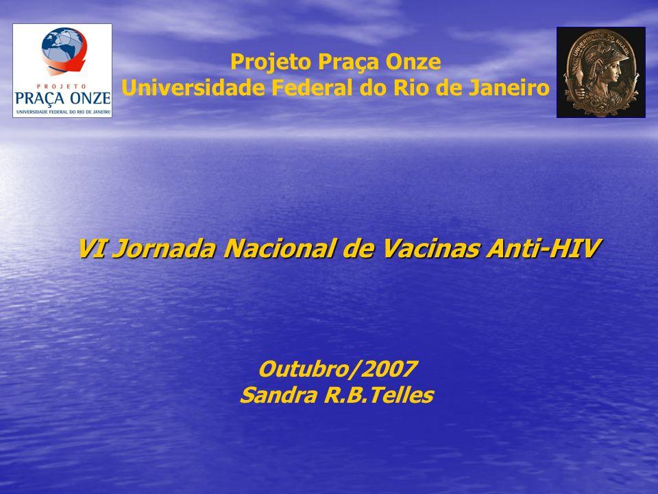 Projeto Praça Onze Universidade Federal do Rio de Janeiro VI Jornada Nacional de Vacinas Anti-HIV Outubro/2007 Sandra R.B.Telles