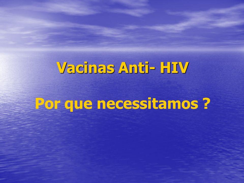 Vacinas Anti- HIV Por que necessitamos ?