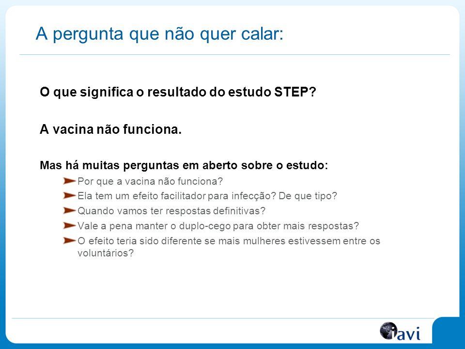 A pergunta que não quer calar: O que significa o resultado do estudo STEP.