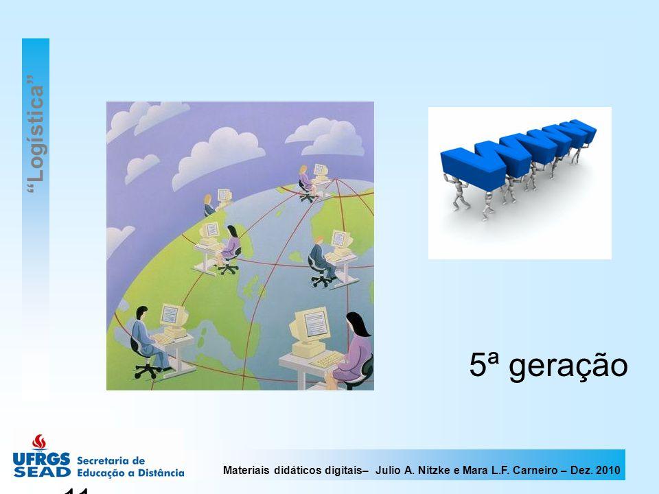 Materiais didáticos digitais– Julio A. Nitzke e Mara L.F. Carneiro – Dez. 2010 11 5ª geração Logística