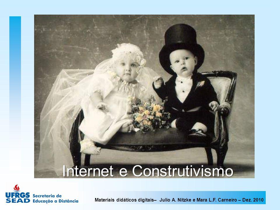 Materiais didáticos digitais– Julio A. Nitzke e Mara L.F. Carneiro – Dez. 2010 Internet e Construtivismo