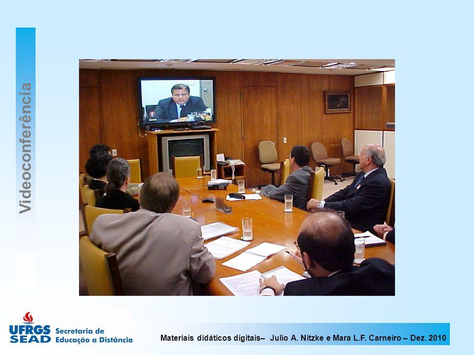 Materiais didáticos digitais– Julio A. Nitzke e Mara L.F. Carneiro – Dez. 2010 Videoconferência