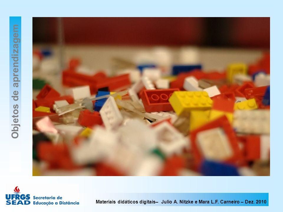 Materiais didáticos digitais– Julio A. Nitzke e Mara L.F. Carneiro – Dez. 2010 Objetos de aprendizagem