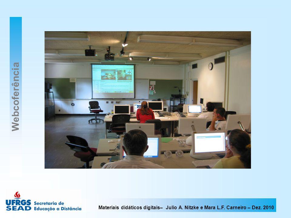 Materiais didáticos digitais– Julio A. Nitzke e Mara L.F. Carneiro – Dez. 2010 Webcoferência